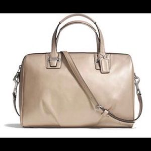 Coach Taylor Leather Satchel in Champagne